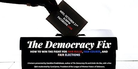 """2020 Annual Lecture: """"Democracy Fix"""" by Caroline Fredrickson tickets"""