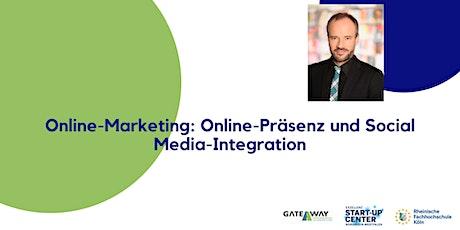 Online-Marketing: Online-Präsenz und Social Media-Integration tickets