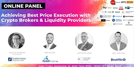 Achieving Best Price Execution with Crypto Brokers & Liquidity Providers tickets
