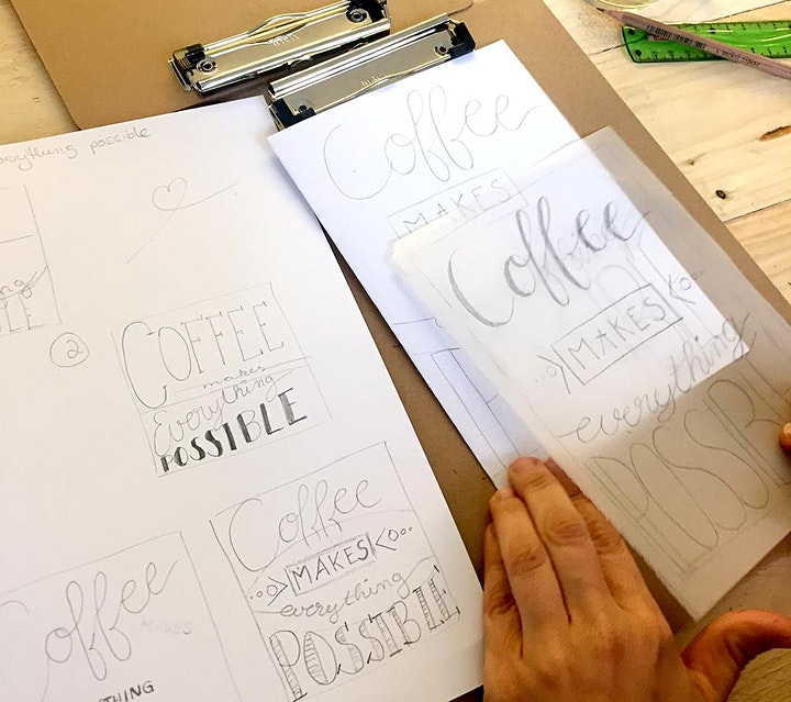 Brush und Hand Lettering Workshop - Zwei Techniken in einem Workshop: Bild