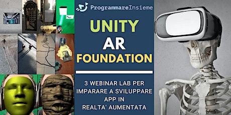 Unity AR Foundation Webinar LABS - Creare app con Realtà Aumentata biglietti