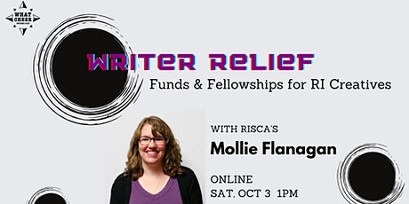 Writer Relief: Funds & Fellowships for RI Creatives tickets