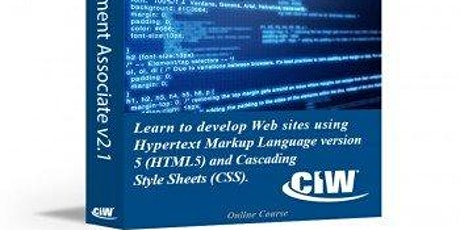 CIW: Site Development - E Learning/Distance Learning Course. Funded by SAAS tickets