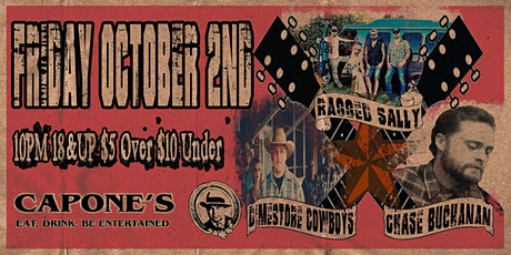 Ragged Sally with The Dimestore Cowboys and Chase Buchanan tickets