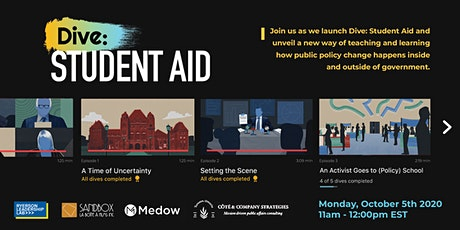 Dive: Student Aid - Media, public policy & online learning tickets
