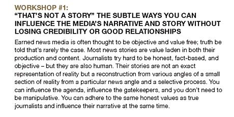 """That's not a story""The subtle ways you can influence the Media's Narrative tickets"