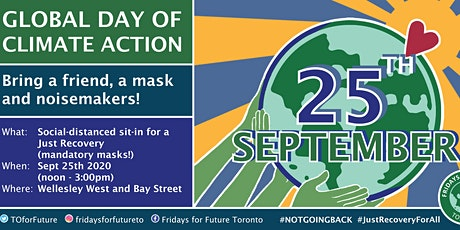 be a VOLUNTEER - September 25th Day of Global Climate Action Toronto billets