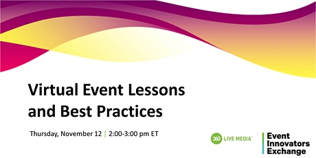 Virtual Event Lessons and Best Practices tickets