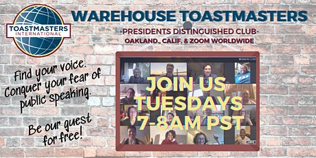 Learn Public Speaking @ Warehouse  Toastmasters Oakland entradas