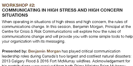 Communicating in High Stress and High Concern Situations tickets