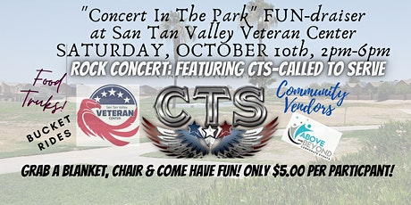 Concert In The Park:Featuring CTS: Called To Serve benefitting VETERANS! tickets