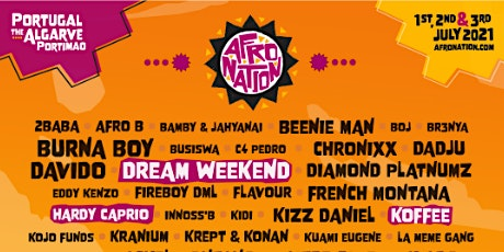 Afro Nation Portugal 2021 tickets
