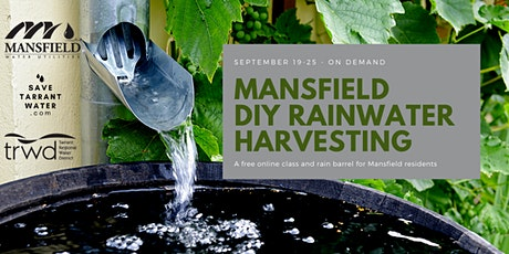 DIY Rainwater Harvesting - Mansfield Residents tickets