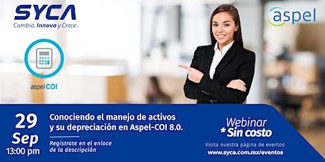 Conociendo el manejo de activos y su depreciación en Aspel-COI 8.0. entradas