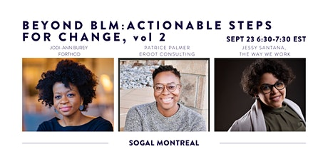 Beyond BLM: Actionable Steps for Change Pt 2 (SOGAL Montreal) tickets