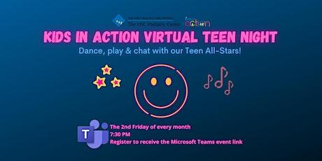 Kids in Action Teen Night tickets