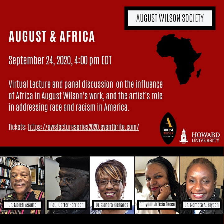 """August Wilson's Ground Lecture Series: """"August and Africa"""" image"""