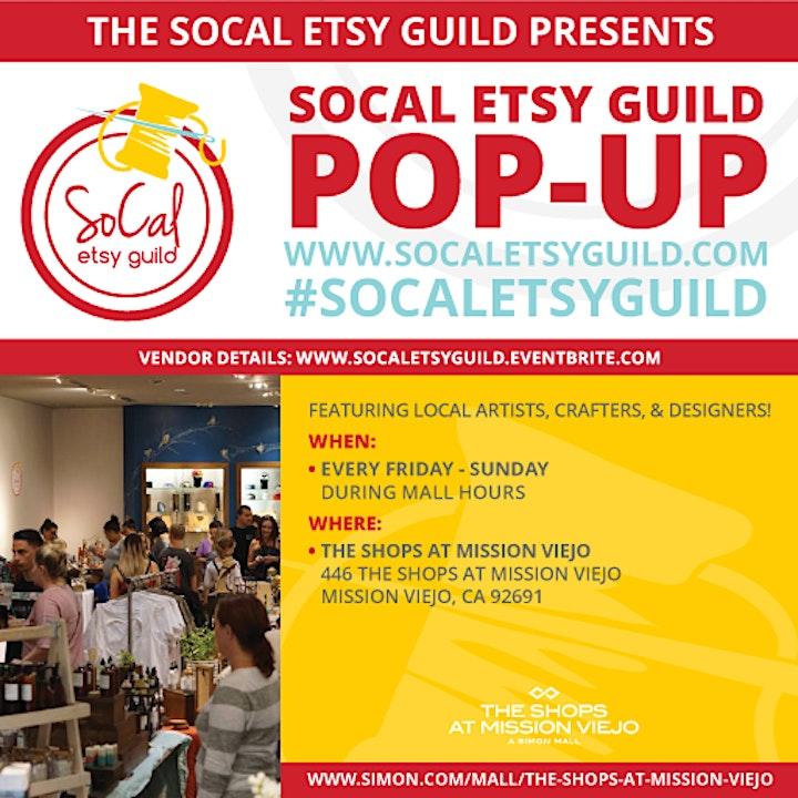 SoCal Etsy Guild Pop Up Mission Viejo image