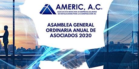 Asamblea General Ordinaria Anual de Asociados 2020 entradas