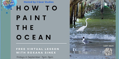 How To Paint The Ocean Free Virtual Lesson tickets