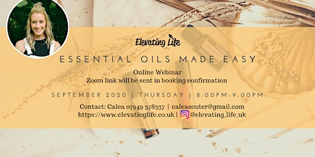 Essential Oils Made Easy in September tickets