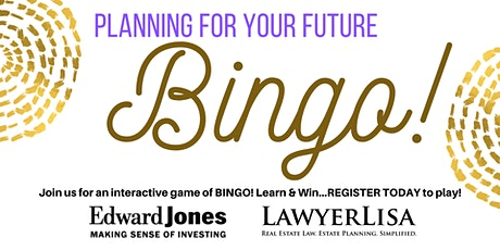 Planning for Your Future BINGO! tickets