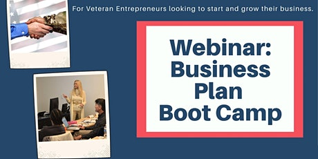 Webinar: Business Plan Boot Camp tickets