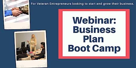 Webinar: Business Plan Boot Camp tickets