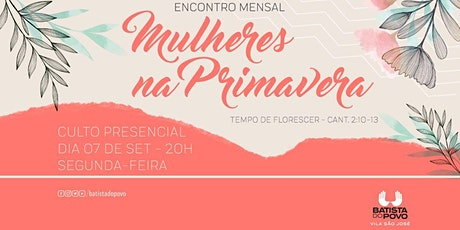 INSCRIÇÃO CULTO DE MULHERES - 20H00 ÀS 21H30 ingressos