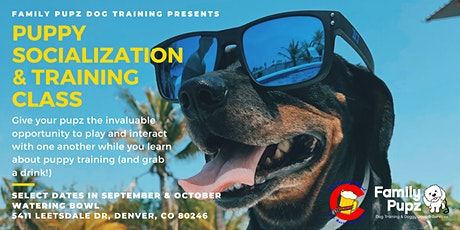 Puppy Socialization & Training Class at the Watering Bowl! tickets