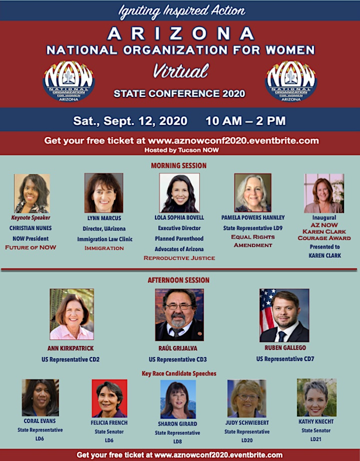Arizona NOW Virtual State Conference 2020 – Sept 12 from 10 AM – 2 PM MST image