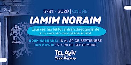 Iamim Noraim 5781 Escuela y Comunidad Tel Aviv - Yesod HaTorah entradas