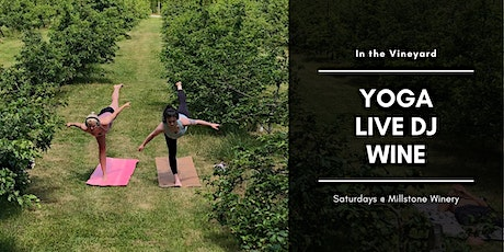 Silent Disco Yoga in the Vineyard at Millstone Estate Winery tickets