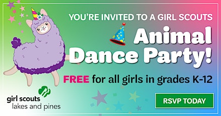 Animal Dance Party: Girl Scout Sign-up (Wadena) tickets