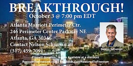 Breakthrough in Atlanta, GA tickets