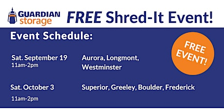 Guardian Storage Shred-It Event tickets