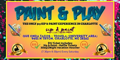 Saturdays: Paint & Play (University Area) tickets