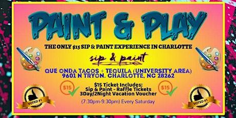 Saturdays: Paint & Play (University Area) tickets