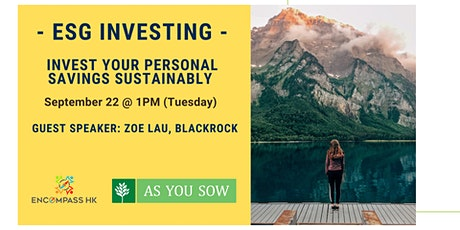 ESG & Impact Investing - Invest your Personal Savings Sustainably tickets