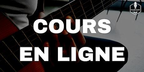 Cours individuels EN LIGNE de guitare AFRO billets