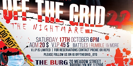 OFF THE GRID 22 | THE NIGHTMARE tickets