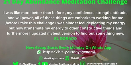 21 Day Abundance Meditation Challenge tickets
