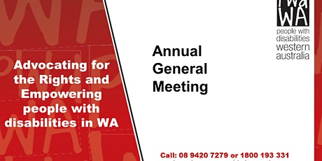 PWdWA Annual General Meeting tickets