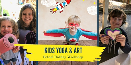 Kids Yoga and Art'n'Craft School Holiday Workshop tickets