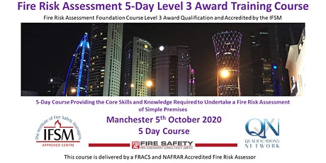 5 Day Fire Risk Assessment Training Course tickets