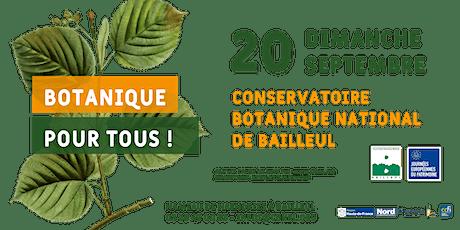 Botanique pour tous - Journées européennes du patrimoine billets