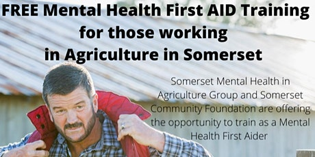 Mental Health First Aid Training 2 Day Accredited Course for Agriculture tickets