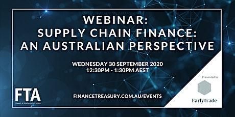 Webinar: Supply Chain Finance: An Australian Perspective tickets