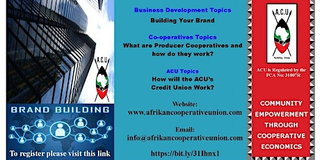 AFRIKAN COOPERATIVE UNION BUILDING YOUR BRAND WEBINAR tickets