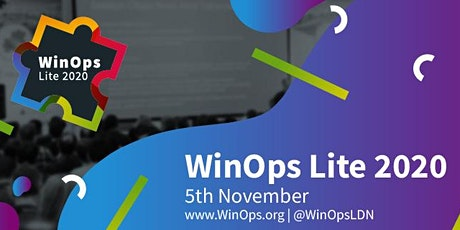 WinOps Lite 2020 tickets